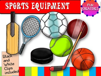 Sports Equipment- Clip Art