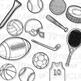 Sports Equipment Clip Art (Digital Use Ok!)