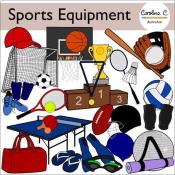 Sports Equipment Clip Art Set