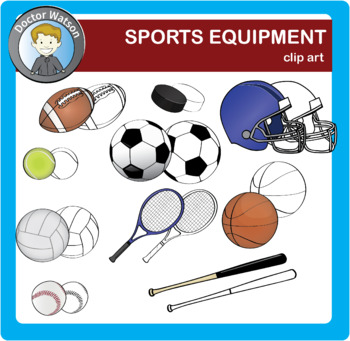 Sports Equipment Clipart