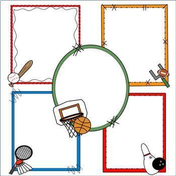 Sports Frames Clip Art