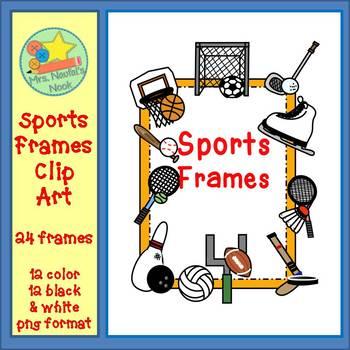 Sports Frames Clip Art by Sandra Naufal | Teachers Pay Teachers