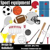 Sports Equipment / Gear Digital Clip Art Graphics 24 images cod12
