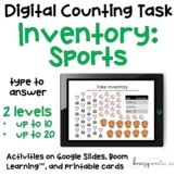 Sports Equipment Inventory - Digital Counting Practice for
