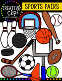 Sports Equipment Pairs {Creative Clips Digital Clipart}