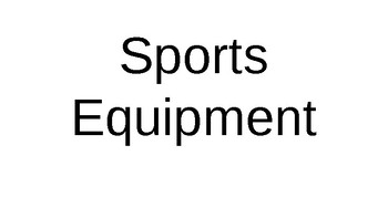Sports Equipment Powerpoint