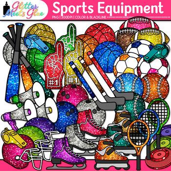 Rainbow Sports Equipment Clip Art | Gym Gear for Physical Education Teachers