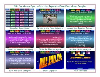 Sports-Exercise Jeopardy PowerPoint Game