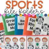 Sports File Folders for Special Education