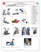 Sports & Fitness (A): Exercises and Gym Equipment Matching (Adult ESL)