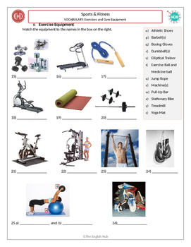 sports fitness a exercises and gym equipment matching adult esl. Black Bedroom Furniture Sets. Home Design Ideas