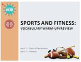 Sports & Fitness: Sports Equipment and Venues Vocab (Adult ESL)