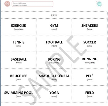 Sports & Fitness: Sports and Athletes Vocabulary Cards (Ad