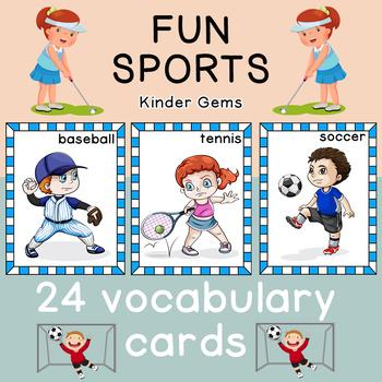 Sports Flash Cards; Kindergarten; Preschool; Homeschool; Bulletin Board