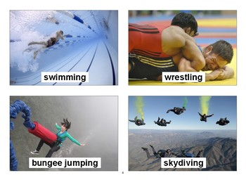 Sports Flashcards with Vocabulary