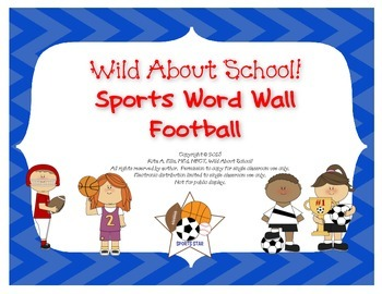 Sports Football Word Wall Set