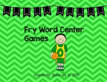 Sports Fry Word Center Game