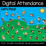 Sports Fun Digital Attendance (Smart Boards and Computers)