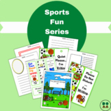 Sports Fun Journal Pages, Bookmarks, and Doorknob Hangers (full color)