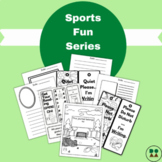 Sports Fun Journal Pages, Bookmarks, and Doorknob Hangers (coloring pages)