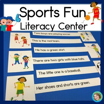 Sports Fun Sentence Picture Match Reading Center