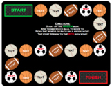 Sports Game Board: Editable for High Frequency Words #christmasinjuly
