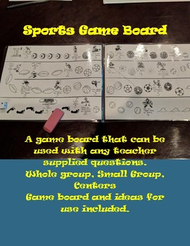 Sports Game Board (for any subject)