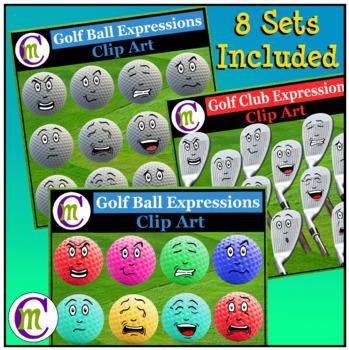 Sports Game Emoji Clipart BUNDLE 2 | Sports Emotions Clip Art