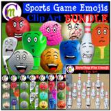 Sports Game Emoji Clipart BUNDLE 2   Sports Emotions Clip Art
