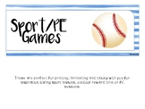 Sports Games and Ideas