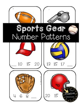 Sports Gear Number Patterns Matching Game --Build Number Sense!