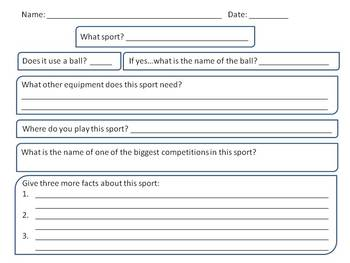 sports graphic organizer by krista basuel teachers pay teachers sports graphic organizer