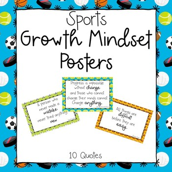 Sports Growth Mindset Posters