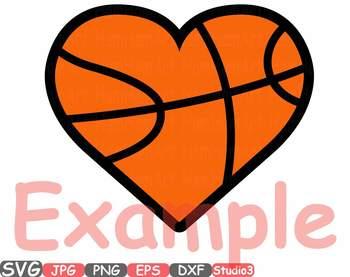Sports Heart Balls clipart Baseball Soccer Basketball Football Valentines 699s