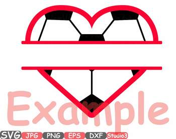 Sports Heart Balls clipart split circle Soccer Basketball Football frame 704s
