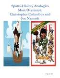 Sports-History Analogies: Christopher Columbus and Joe Namath