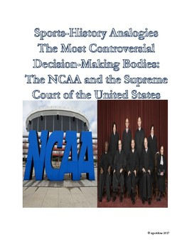 Sports-History Analogies: NCAA and Supreme Court of the United States