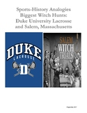 Sports-History Analogies: Salem Witch Trials and Duke University Lacrosse Trial
