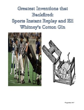 sports history analogies sports instant replay and eli whitney s