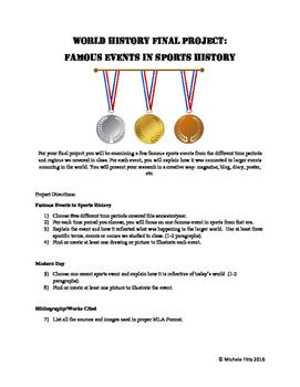 Sports History Research Project (Modern World History Alternative Final)