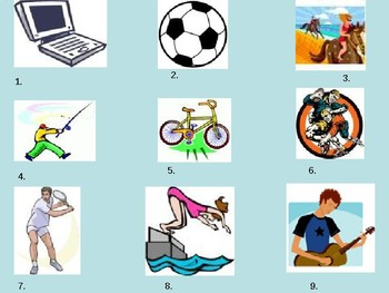 Sports / Hobbies / Free time / Leisure / Frequency phrases