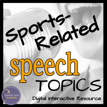 Impromptu Public Speaking Activity for ELA, ESL Sports Lovers