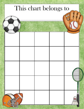 Sports Incentive Chart
