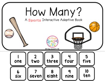 "Sports Interactive Adaptive books - set of 2 (""I See and ""How Many?)"