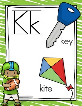Sports Kids Alphabet Cards