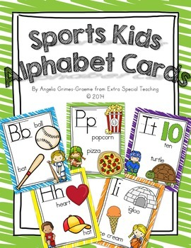 Sports Kids Alphabet Cards