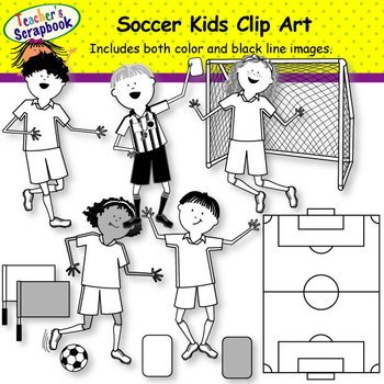 Sports Kids Clip Art BUNDLE