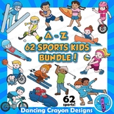 Sports Kids Clip Art BUNDLE: 62 Sports!
