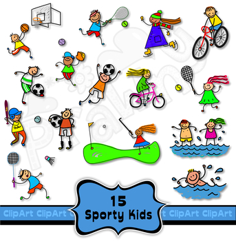 Sports Kids Clip Art Collection