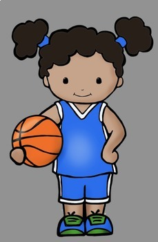 Sports Kids Clip Art Set